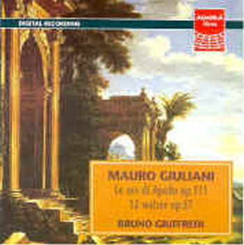 Bruno Giuffredi: (chitarra) plays LE ORE DI APOLLO - Mauro Giuliani (CD)